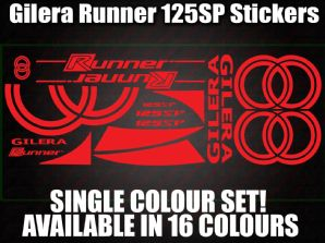 Gilera Runner 125 SP Large Decals/Stickers 50 70 125 172 180 183 210